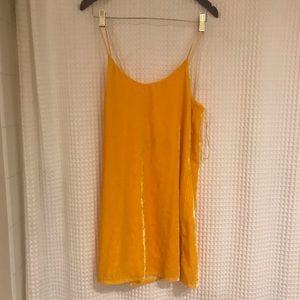 Zara Trafaluc Collection Mini Yellow Velvet Dress